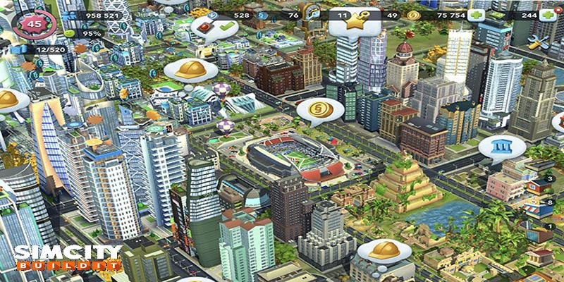 SimCity BuildIt mod không giới hạn tiền