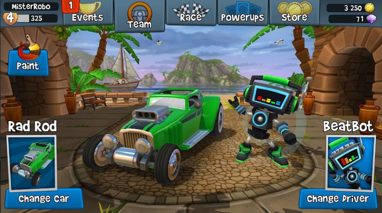 Beach Buggy Racing 2 mod unlimited money